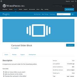 Carousel Slider Block – WordPress plugin