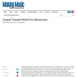 Carpal Tunnel Relief for Musicians