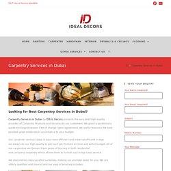 Carpenter services Dubai