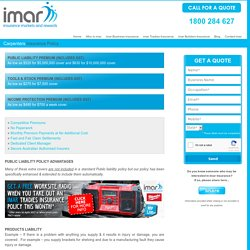 Carpenters Public Liability Insurance - imar