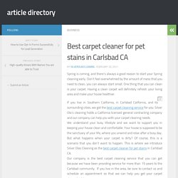 Best carpet cleaner for pet stains in Carlsbad CA