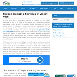 Carpet Cleaning Services in Ascot Vale