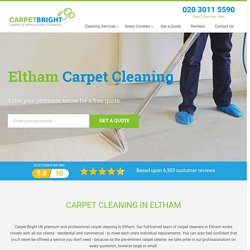 Carpet Cleaning Eltham - Carpet Bright UK