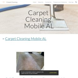 Carpet Cleaning - Carpet Cleaning Mobile AL
