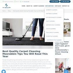 Carpet cleaning Moorabbin