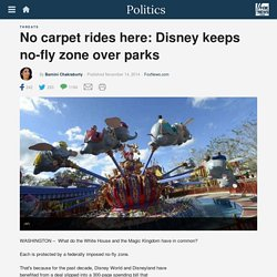 No carpet rides here: Disney keeps no-fly zone over parks