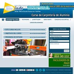 Curso de Carpintería de Aluminio