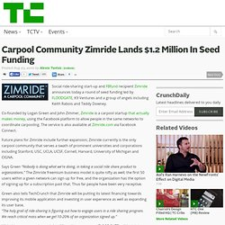 Carpool Community Zimride Lands $1.2 Million In Seed Funding