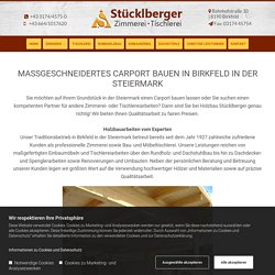 Carport bauen in Birkfeld in der Steiermark