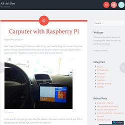 Carputer with Raspberry Pi