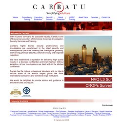 Carratu Ltd - Risk Mitigation and Corporate Investigation consultants