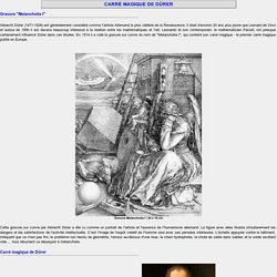 Le carré magique d'Albrecht de 1514 — inventeur du carré magique
