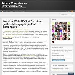Les sites Web PDCI et Carrefour gestion bibliographique font peau neuve
