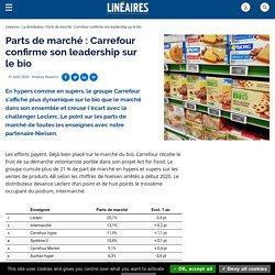 Parts de marché : Carrefour confirme son leadership sur le bio