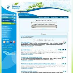 Carrefour éducation - recherche p.7 et suivante à consulter