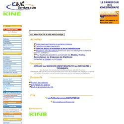 Kiné services KINESITHERAPIE