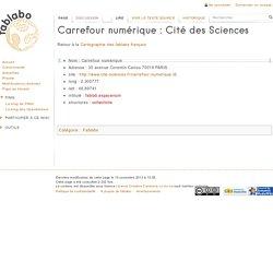 Carrefour numérique : Cité des Sciences