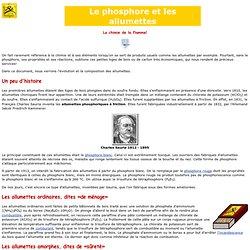 Carrefour atomique - Le phosphore et les allumettes