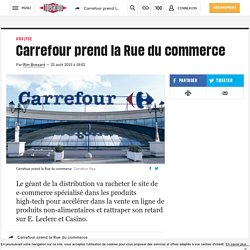 Carrefour prend la Rue du commerce