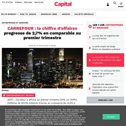 CARREFOUR : le chiffre d'affaires progresse de 2,7% en comparable au premier trimestre