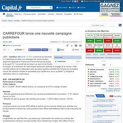 CARREFOUR lance une nouvelle campagne publicitaire