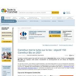 Carrefour met le turbo sur le bio : objectif 150 Carrefour Bio en 2021