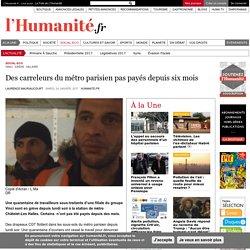Des carreleurs du métro parisien pas payés depuis six mois