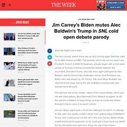 Jim Carrey's Biden mutes Alec Baldwin's Trump in SNL cold open debate parody