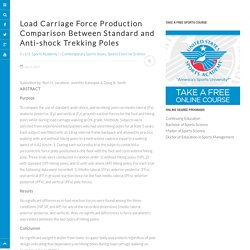 Load Carriage Force Production Comparison Between Standard and Anti-shock Trekking Poles