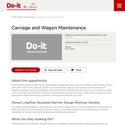 Carriage and Wagon Maintenance - Do-It - Be More
