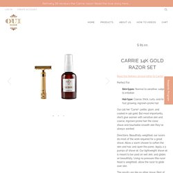 Carrie 14k Gold Razor Set