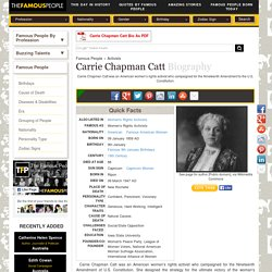Carrie Chapman Catt Biography