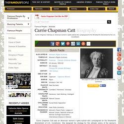 Carrie Chapman Catt Biography