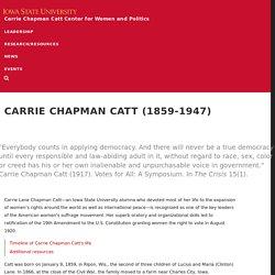 Carrie Chapman Catt (1859-1947)