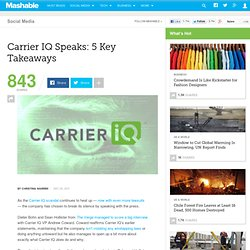 Carrier IQ Speaks: 5 Key Takeaways