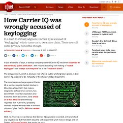 How Carrier IQ was wrongly accused of keylogging | Privacy Inc.