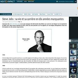 Steve Jobs : sa vie et sa carrière en dix années marquantes