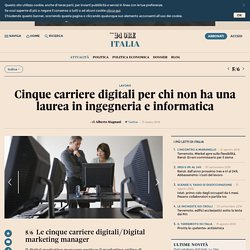 Le cinque carriere digitali/Digital marketing manager