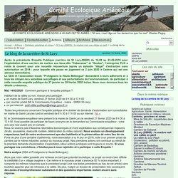 Le blog de la carrière de St Lary - Comité Ecologique Ariégeois