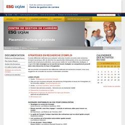 Stratégies de recherche d'emploi (ESG, UQAM)