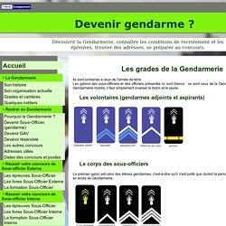 Grades et carrières de la Gendarmerie - Devenir gendarme ?