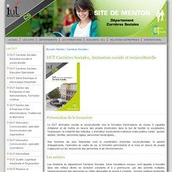 DUT Carrières Sociales, Animation sociale et socioculturelle - IUT de Nice