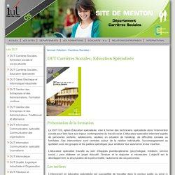 DUT Carrières Sociales, Education Spécialisée - IUT de Nice