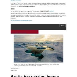 Arctic ice carries heavy freight of plastic : Research Highlights
