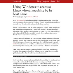 Using Windows to access a Linux virtual machine by its host name
