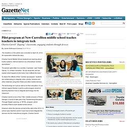 Pilot program at New Carrollton middle school teaches teachers to integrate tech