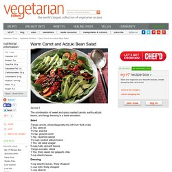 Warm Carrot and Adzuki Bean Salad Recipe