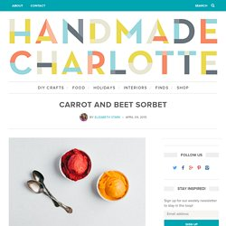 Carrot and Beet Sorbet