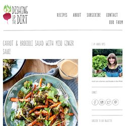 Carrot & Broccoli Salad With Miso Ginger Sauce - Dishing Up the Dirt