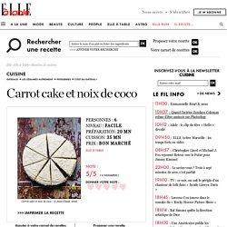 Carrot cake et noix de coco pour 6 personnes